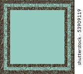 chocolate and mint floral frame | Shutterstock .eps vector #53909119
