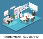 isometric interior of director... | Shutterstock . vector #539100442