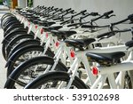 A Rental Bicycles Stand In A...