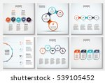 thin line flat elements set for ... | Shutterstock .eps vector #539105452