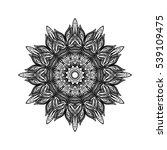vector beautiful deco mandala ... | Shutterstock .eps vector #539109475