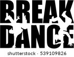 breakdance word with cutout... | Shutterstock .eps vector #539109826