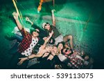 group of friends at club lying... | Shutterstock . vector #539113075