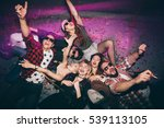 group of friends at club lying... | Shutterstock . vector #539113105