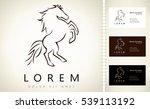Stock vector horse logo 539113192