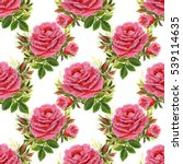 seamless floral pattern with... | Shutterstock . vector #539114635