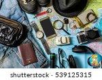 planning for trip set of travel ... | Shutterstock . vector #539125315