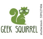 geek squirrel logo | Shutterstock .eps vector #539127406