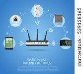 smart house and internet of... | Shutterstock .eps vector #539128165