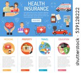 insurance services concept with ... | Shutterstock .eps vector #539128222