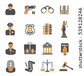 set crime and punishment two... | Shutterstock .eps vector #539128246
