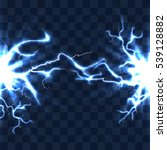 electrical discharge with... | Shutterstock . vector #539128882
