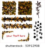 autumn leaves | Shutterstock .eps vector #53912908