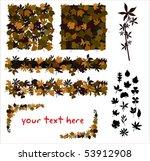 autumn leaves | Shutterstock .eps vector #53912908