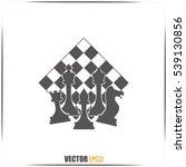 chess club sport emblems or... | Shutterstock .eps vector #539130856