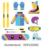 flat design winter sport... | Shutterstock .eps vector #539132002