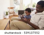 grandfather and grandson at... | Shutterstock . vector #539137552