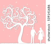 wedding card with the newlyweds ...   Shutterstock .eps vector #539141686