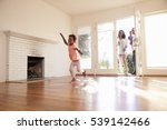 excited family explore new home ... | Shutterstock . vector #539142466