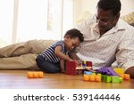 grandfather and grandson...   Shutterstock . vector #539144446