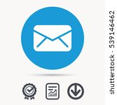 envelope icon. send email... | Shutterstock .eps vector #539146462