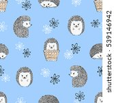 seamless pattern with cute... | Shutterstock .eps vector #539146942