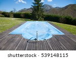 swimming pool with wooden curb... | Shutterstock . vector #539148115