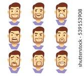 bearded hipster man character...   Shutterstock . vector #539153908