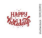 merry christmas card  vector... | Shutterstock .eps vector #539153992