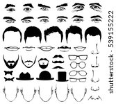 man face eyes and noses ... | Shutterstock . vector #539155222