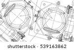mechanical engineering drawing. ... | Shutterstock .eps vector #539163862
