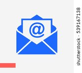mail icon  | Shutterstock .eps vector #539167138