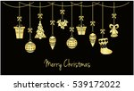 merry christmas greeting card... | Shutterstock .eps vector #539172022