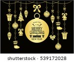 merry christmas greeting card... | Shutterstock .eps vector #539172028