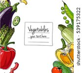 vegetables. fresh food.... | Shutterstock .eps vector #539175322