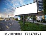 Billboard Canvas Mockup In Cit...