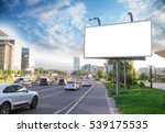 billboard canvas mockup in city ... | Shutterstock . vector #539175535
