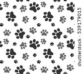 pattern of animals paws | Shutterstock .eps vector #539179015