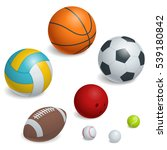 isometric sports balls set.... | Shutterstock . vector #539180842