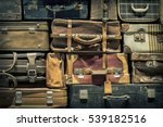 retro  luggages bag background | Shutterstock . vector #539182516