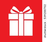 gift box icon on red background ... | Shutterstock .eps vector #539200702