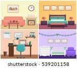 house interior living room ... | Shutterstock .eps vector #539201158