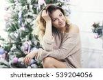 young beautiful smiling girl ... | Shutterstock . vector #539204056