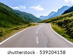 curve at the european alps | Shutterstock . vector #539204158