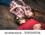 young couple at home | Shutterstock . vector #539204536