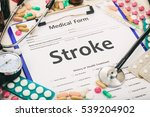medical form on a table ... | Shutterstock . vector #539204902