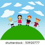 vector happy kids. | Shutterstock .eps vector #53920777