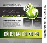 ecology website template  vector | Shutterstock .eps vector #53921146