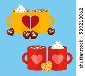 illustration vector couple mug... | Shutterstock .eps vector #539213062