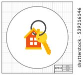 house keyring and key icon | Shutterstock .eps vector #539216146